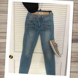 PAIGE Stretch Pocket Detail Premium Skinny Denim